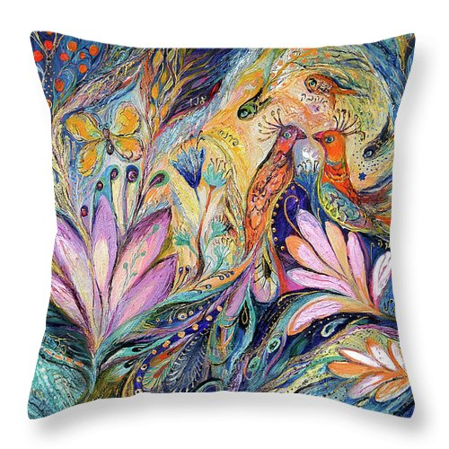Original Throw Pillow featuring the painting The Sea Song by Elena Kotliarker