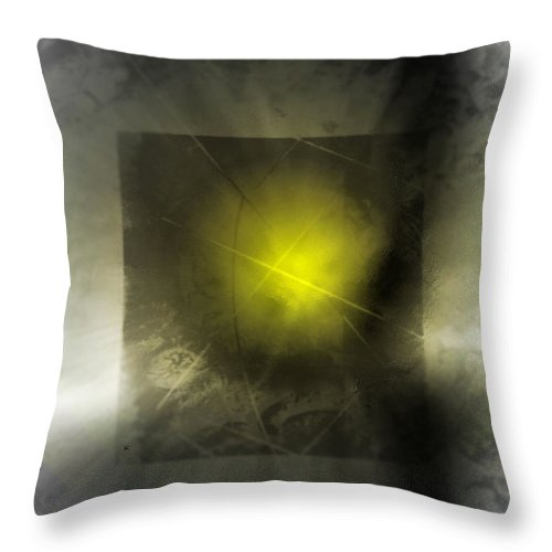 Abstract Throw Pillow featuring the digital art The Storm by John Krakora
