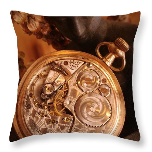 Watch Throw Pillow featuring the photograph Time... by Arthur Miller