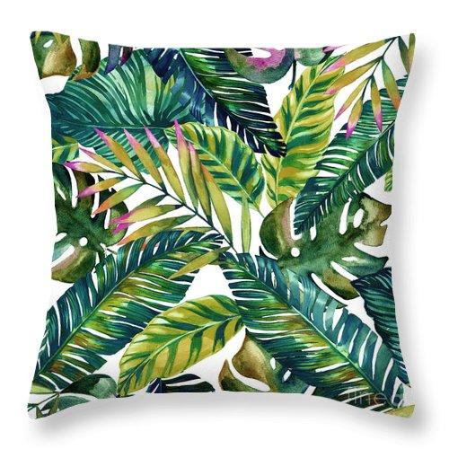 Summer Throw Pillow featuring the digital art Tropical by Mark Ashkenazi