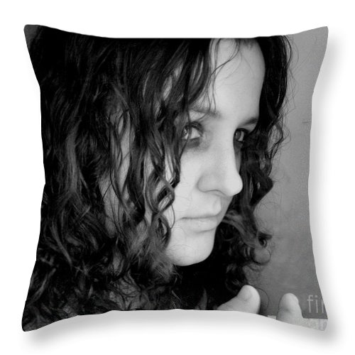 Ciggerette Throw Pillow featuring the photograph Untitiled by Meghann Brunney