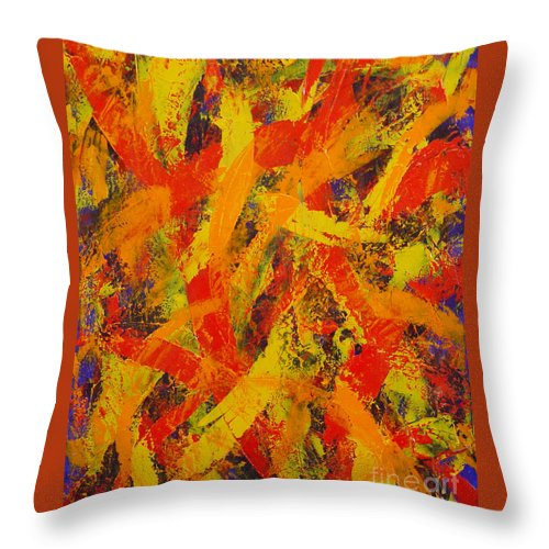 Abstract Throw Pillow featuring the painting Untitled by Dean Triolo