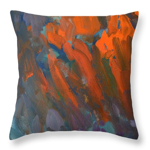 Abstract Throw Pillow featuring the painting Untitled by Mark Van Ert