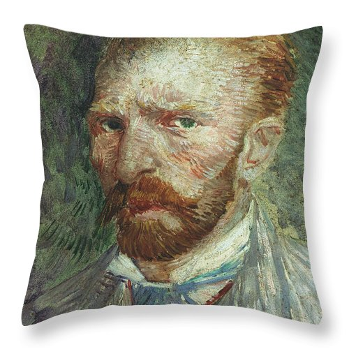 19th Century Throw Pillow featuring the photograph Vincent Van Gogh (1853-1890) by Granger