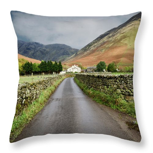 Wasdale Head Throw Pillow featuring the photograph Wasdale Head by Smart Aviation