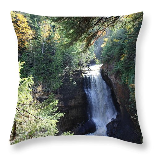 Water Throw Pillow featuring the photograph Waterfall by Brenda Ackerman