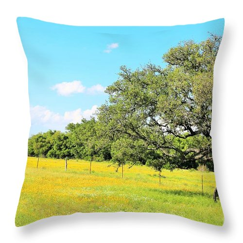 Throw Pillow featuring the photograph Weeds by Jeff Downs