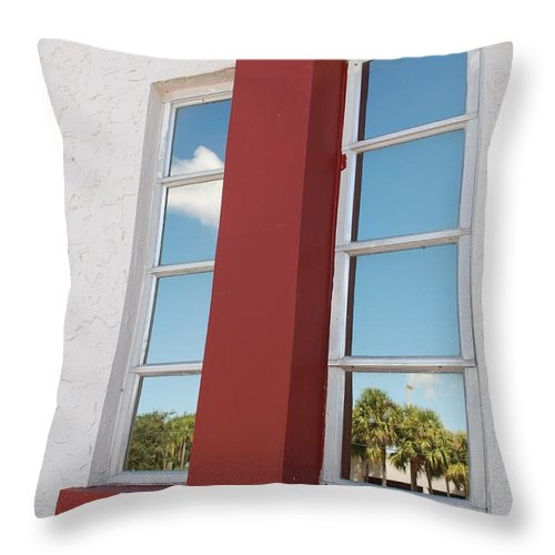 Sky Throw Pillow featuring the photograph Window T Glass by Rob Hans