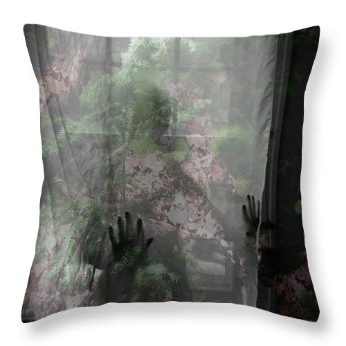 Nudes Throw Pillow featuring the photograph Window Wonder by Trish Hale