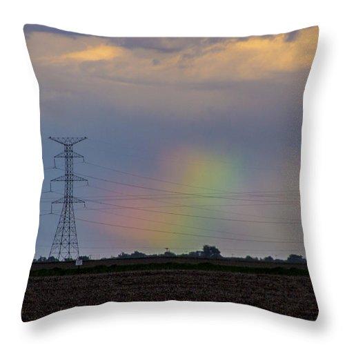 Nebraskasc Throw Pillow featuring the photograph Afternoon Nebraska Thunderstorm by NebraskaSC