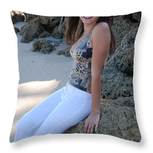 Women Throw Pillow featuring the photograph Gisele by Rob Hans
