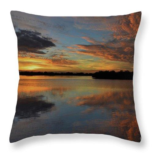 Burnt Bridge Throw Pillow featuring the photograph 20- Sunset At Burnt Bridge by Joseph Keane