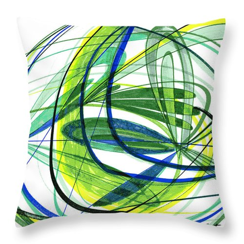 Abstract Throw Pillow featuring the drawing 2007 Abstract Drawing 4 by Lynne Taetzsch