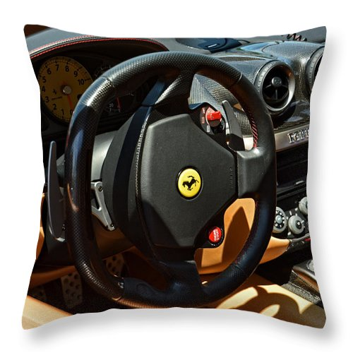 2010 Ferrari 599 Gtb Cockpit Throw Pillow For Sale By Mike