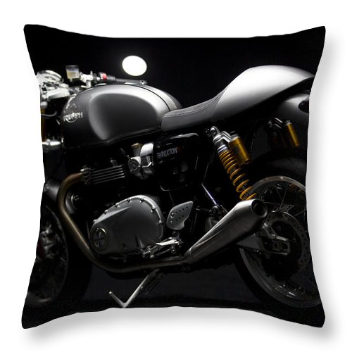 Triumph Throw Pillow featuring the photograph 2016 Triumph Thruxton R by Keith May