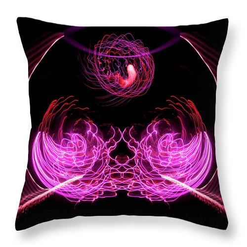 Aspect Ratio 4:5 Throw Pillow featuring the photograph 201606040-039b Bowl Of Fireworks 4x5 by Alan Tonnesen