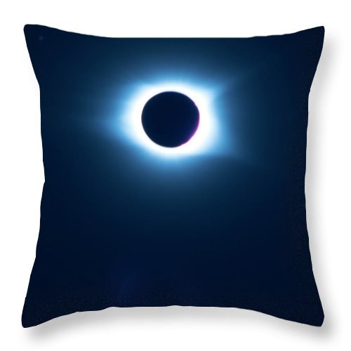 Pat Throw Pillow featuring the photograph 2017 Full Eclipse by Pat Turner