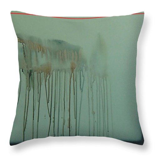 Abstract Expressionism Throw Pillow featuring the painting 2017 by Philip Fleischer