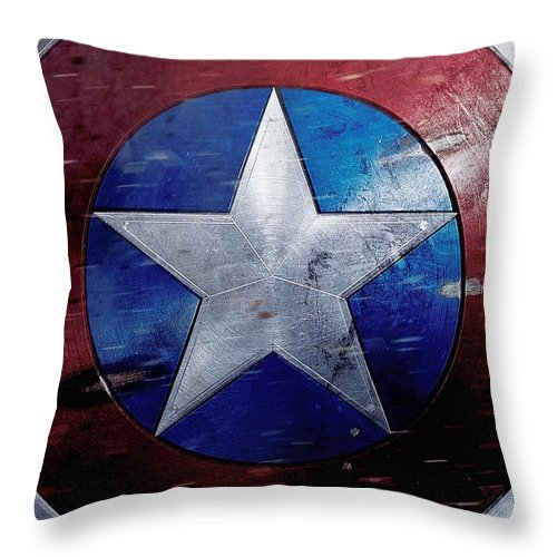 Captain America Throw Pillow featuring the digital art Captain America Civil War 2016 by Geek N Rock