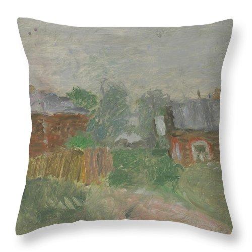 Street Throw Pillow featuring the painting Rostov by Robert Nizamov
