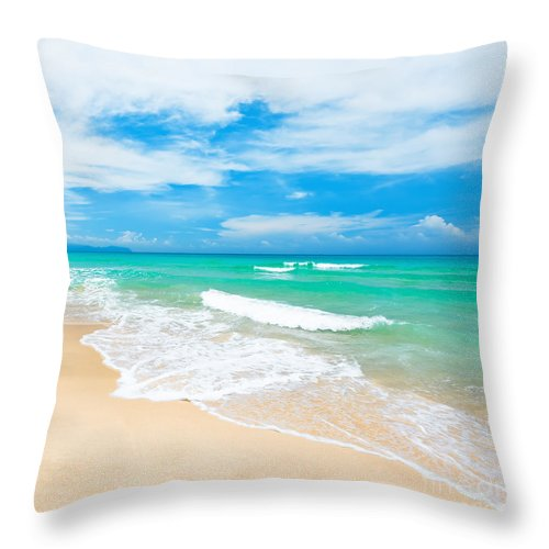 Beach Throw Pillow featuring the photograph Beach by MotHaiBaPhoto Prints