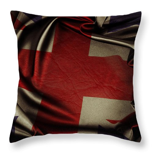 Flag Throw Pillow featuring the photograph British Flag 5 by Les Cunliffe