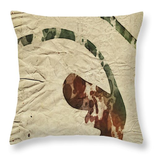 Abstract Throw Pillow featuring the digital art Abstract Art by Sobano S
