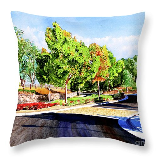 Corin Drive Throw Pillow featuring the painting #259 Corin At Hayden by William Lum