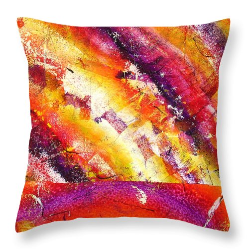 Throw Pillow featuring the painting Abstract by Jay Bonifield