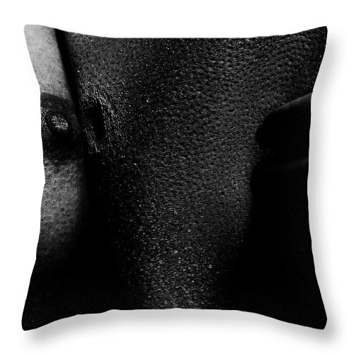 Nude Throw Pillow featuring the photograph 2nd Skin by Pavel Jelinek