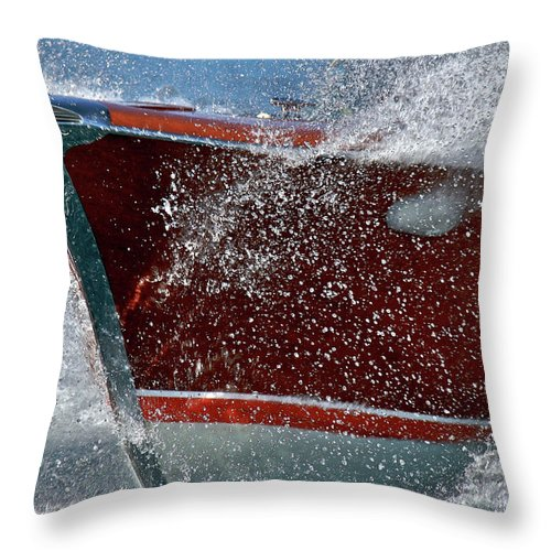 Riva Throw Pillow featuring the photograph Riva Aquarama by Steven Lapkin