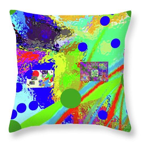 Walter Paul Bebirian Throw Pillow featuring the digital art 3-13-2015labcdefghij by Walter Paul Bebirian