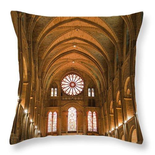 Abbey Of Saint-remi Reims Throw Pillow featuring the photograph Abbey Of Saint - Remi Reims by Yefim Bam