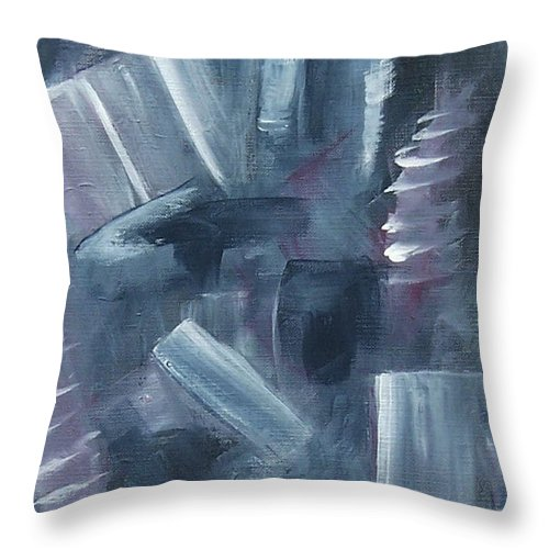 Abstract Throw Pillow featuring the painting After Hours by Karen Day-Vath