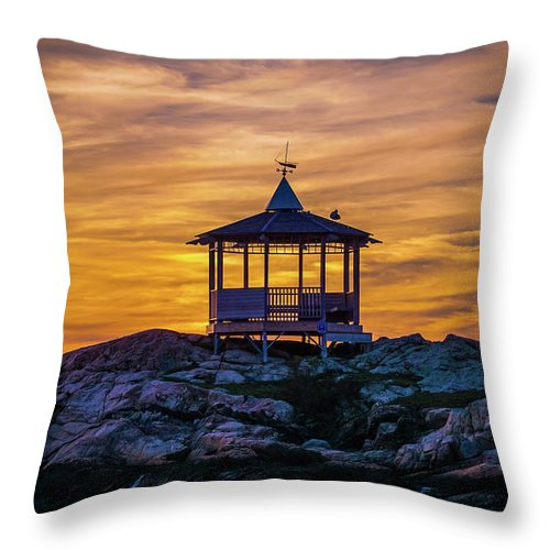 Sunset Throw Pillow featuring the photograph After Sunset by Lilia D