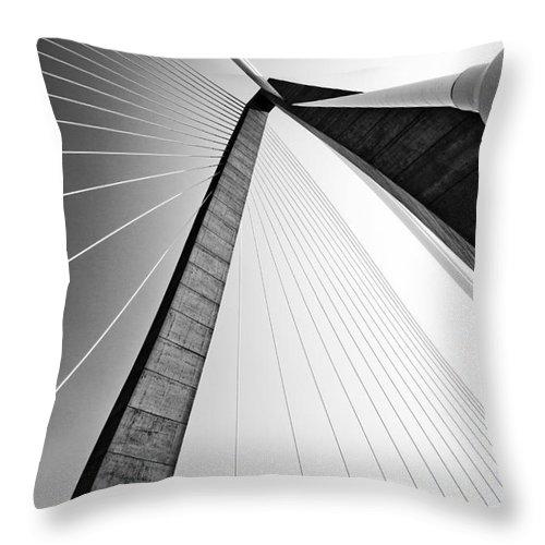 Bridge Throw Pillow featuring the photograph Arthur Ravenel Jr Bridge Charleston Sc Cooper River by Dustin K Ryan