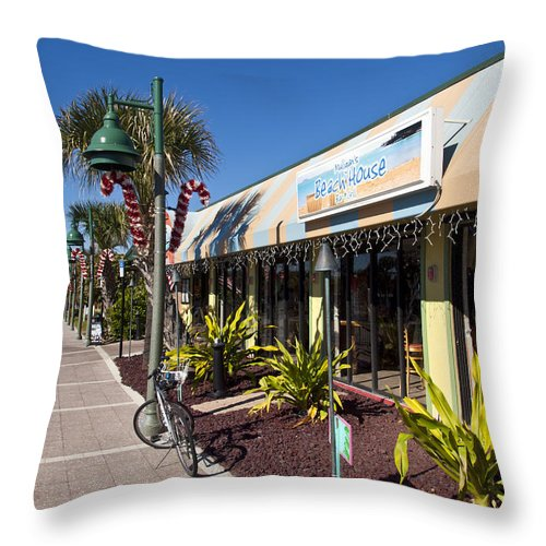 Florida Throw Pillow featuring the photograph Beachland Boulevard At Vero Beach In Florida by Allan Hughes