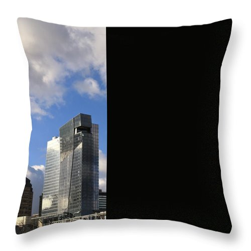 Destination Throw Pillow featuring the photograph Cleveland City Skyline And Old Lamp Post by Douglas Sacha