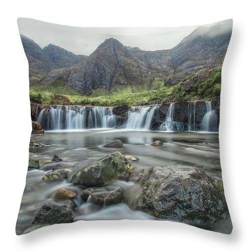 Fairy Pools Throw Pillow featuring the photograph Fairy Pools - Isle Of Skye by Joana Kruse