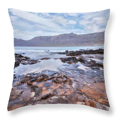Playa De Famara Throw Pillow featuring the photograph Famara - Lanzarote by Joana Kruse