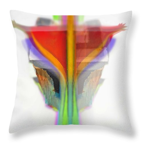 Figure Throw Pillow featuring the digital art Figure by Charles Stuart