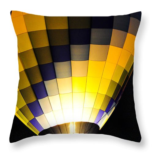 Clay Throw Pillow featuring the photograph Glowing by Clayton Bruster