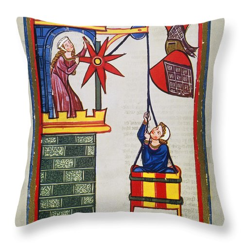 14th Century Throw Pillow featuring the photograph Heidelberg Lieder, 14th C by Granger