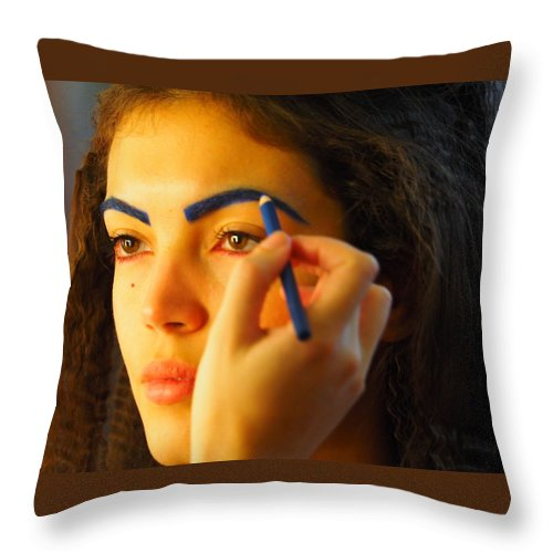 London Fashion Week 2015 Throw Pillow featuring the photograph London Fashion Week 2015 by Angel Cher