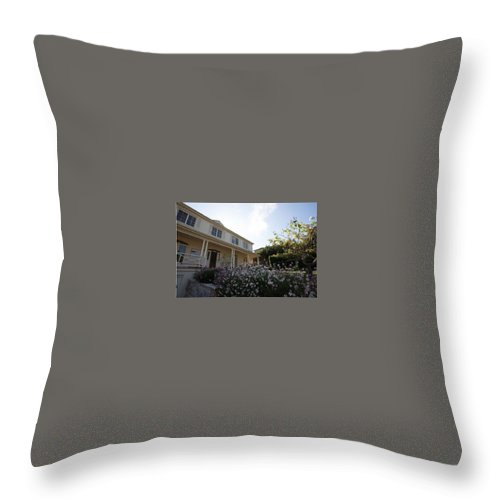 Modern Architecture Homes Throw Pillow featuring the photograph Luxury Home Builders, Miniter Projects by Luxury Home Builders