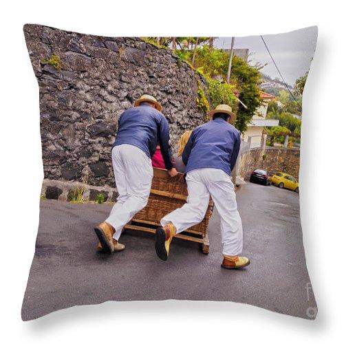 Portugal Throw Pillow featuring the photograph Madeira by Karol Kozlowski
