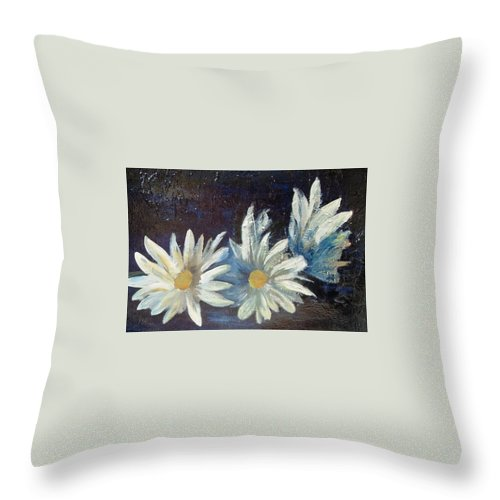 Me In The Pool Throw Pillow featuring the painting 3 Margaritas by Carol P Kingsley