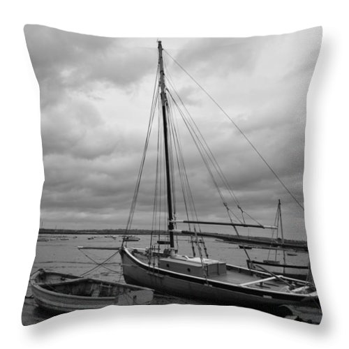 Mersea Throw Pillow featuring the photograph Mersea by Stephen Hulme