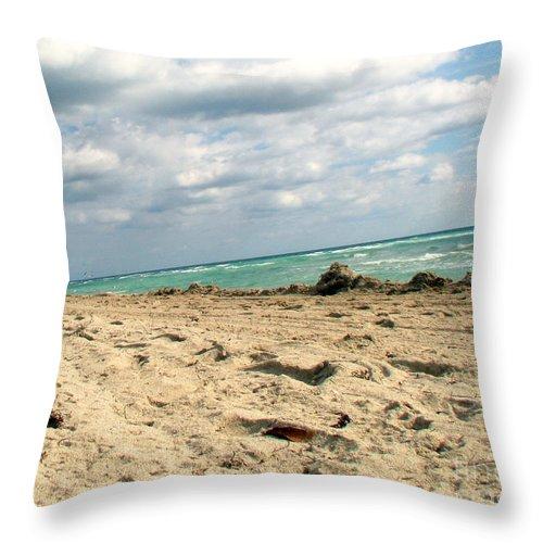 Miami Throw Pillow featuring the photograph Miami Beach by Amanda Barcon