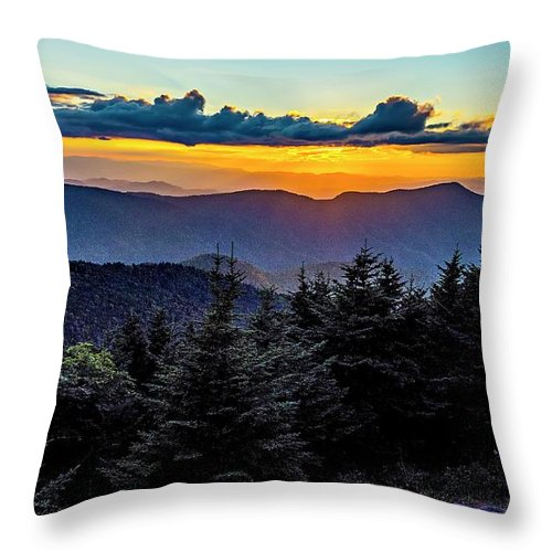 Mount Throw Pillow featuring the photograph Mount Mimtchell Sunset Landscape In Summer by Alex Grichenko